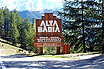 Alta badia welcome sign